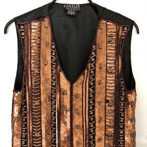 JAKELIN DESIGNS -Vest  Sequins & Beads embroidered